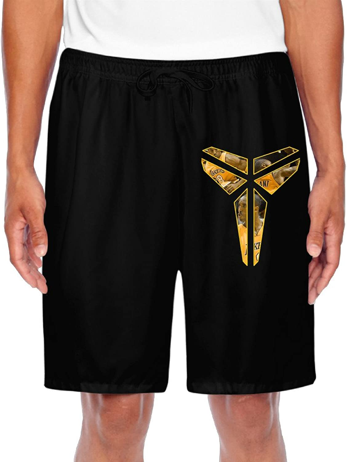 Men's L.A. Lakers Kobe Bryant Teenager Master Logo Shorts Gym