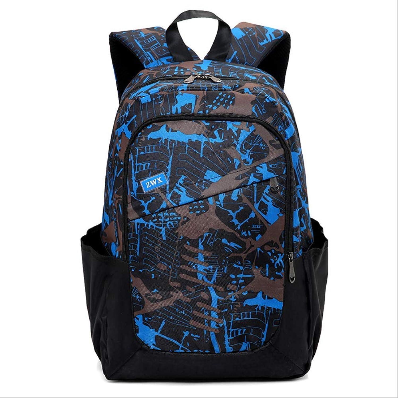 3 Teile stze Frauen Mnner Reise Ruckscke Camouflage Druck Schultasche Rucksack Kinder Schultaschen Für Teenager Grils Tasche Zurück Blau1
