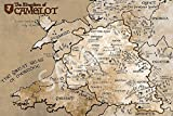 Best Print Store - King Arthur Inspired, Full Version Map of Camelot Poster (11x17 inches)