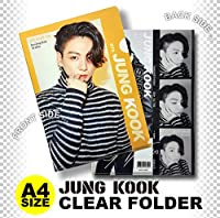 JUNG KOOK ジョングク (防弾少年団 BTS バンタン) クリア フォルダー/ファイル (Clear Folder/File) [A4 SIZE] グッズ