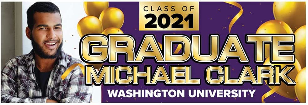 Personalized Graduation Banner Sign - School A surprise price is realized Wholesale Photo Full Name