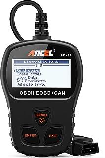 ANCEL AD210 OBD II Lector de Código de Automóvil Herramienta de Análisis de Diagnóstico del Escáner OBD2 para Vehículos Diésel y Gasolina con el Manual en español