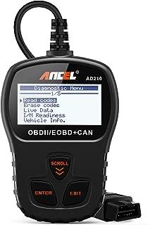 ANCEL AD210 OBD II Car Code Reader Automotive Vehicle OBD2 Scanner Diagnostic Scan Tool - Black