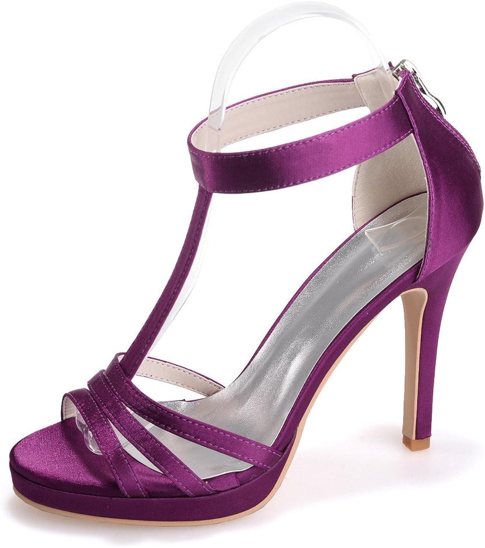 Monie Women's Platform T-Strap Evening Party Dress shoes Stiletto Peep Toe Pumps Zippers
