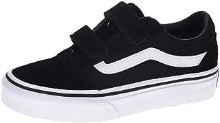Vans Ward V-Velcro, Sneaker Unisex Adulto, Negro ((Suede/Canvas) Black/White Iju), 36 EU