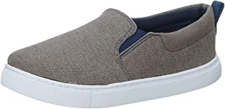 Skippy Contrast Sole Elastic Side Panel Slip-On Shoes for Boys