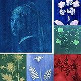 SunCreations 18 hojas de papel cianotipo, papel de impresión de alta sensibilidad, 8.2 pulgadas x 11.4 pulgadas A4 sol/solar activado (6 colores)