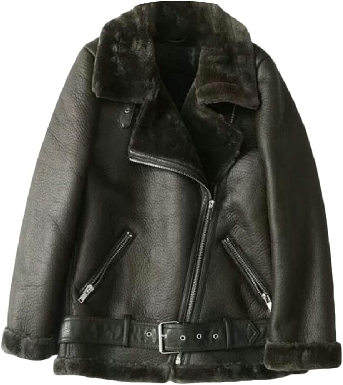 Xswsy XGCA Womens Outerwear Faux Fur Lined Trucker Zipper Thick FauxLeather Jackets