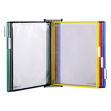 TARIFOLD Wall Reference System, 10 Double-Sided Panels, Letter-Size, Assorted Colors, 20 Sheet Capacity (W291)