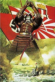 The Samurai Vintage Japanese World War Two WW2 WWII Military Propaganda Poster CANVAS Print