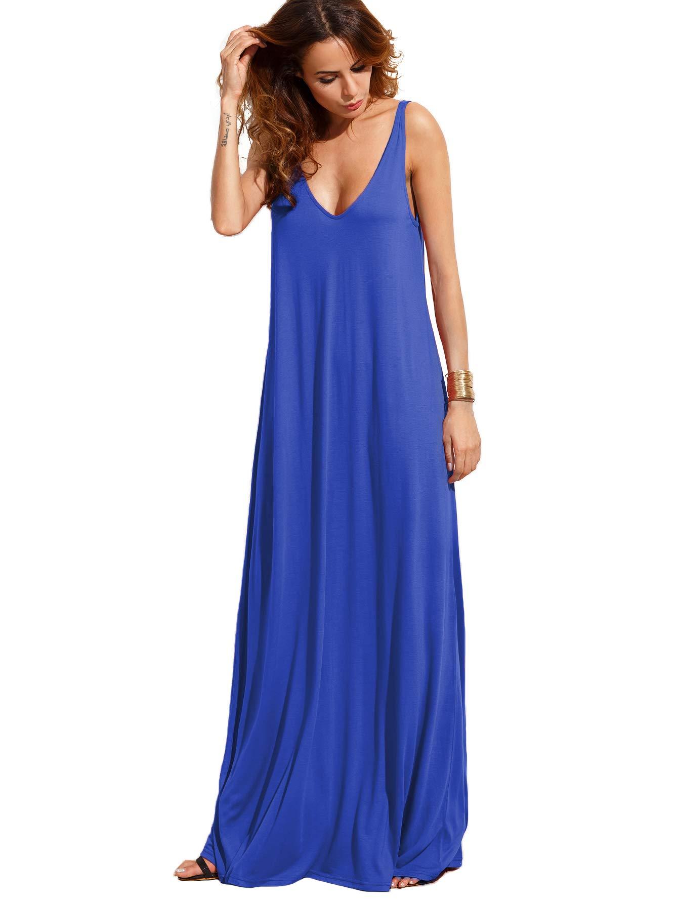 Available at Amazon: Verdusa Women's Casual Sleeveless Deep V Neck Summer Beach Maxi Long Dress
