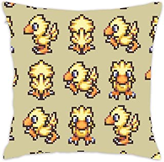 Asefcnxkjii Cute Yellow Chocobo - Final Fantasy Cotton Linen Home Decorative Throw Pillow Case Cushion Cover for Sofa Couch 1818 inch