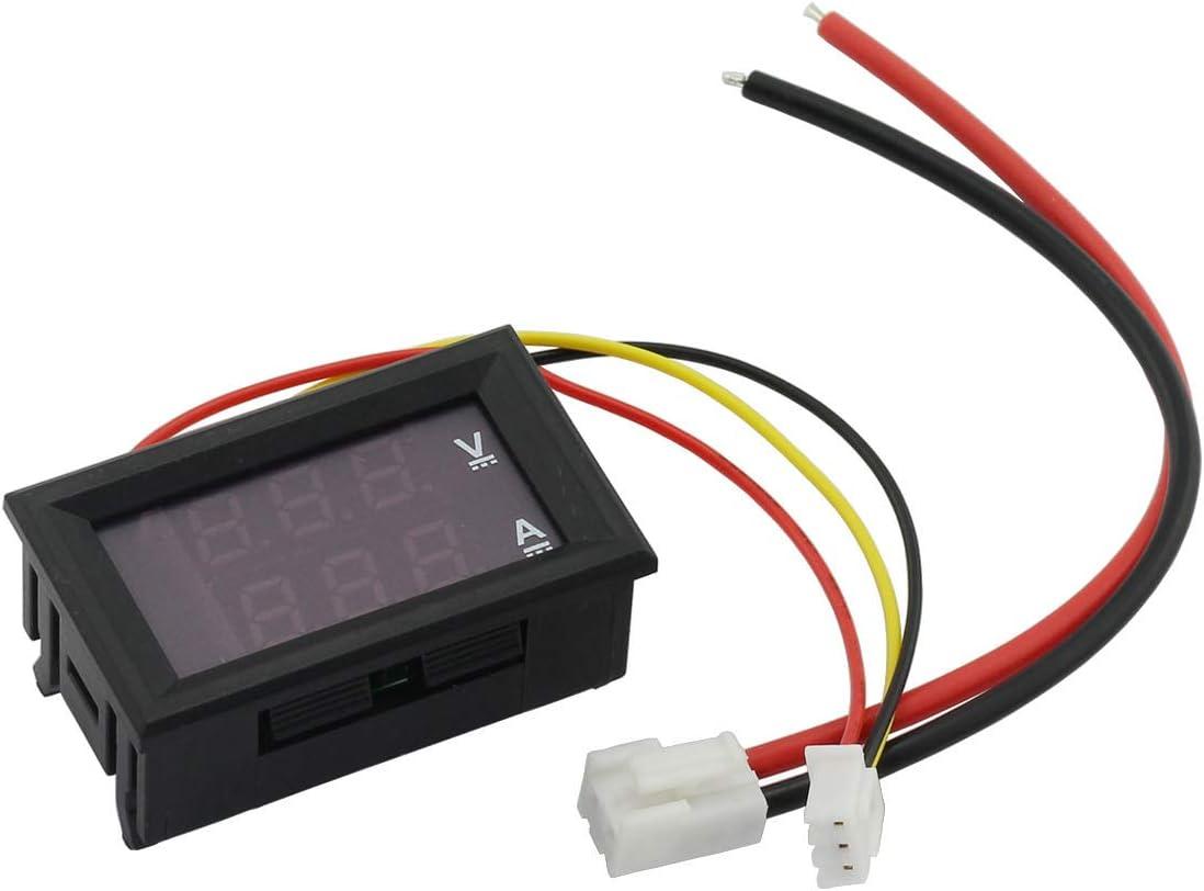 Zrm E 0 28 Zoll Mini Digital Voltmeter Amperemeter Dc 0 100 V 10 A 50 A 100 A Rot Blau Dual Led Display Panel Amp Volt Stromzähler 2 In 1 Tester Mit Aktueller Shunt Baumarkt