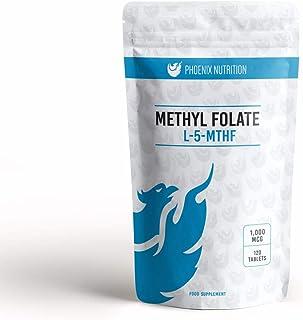 Metil folato 1000mcg x 360 comprimidos - L-5-MTHF L-5-metiltetrahidrofolato (ácido fólico)