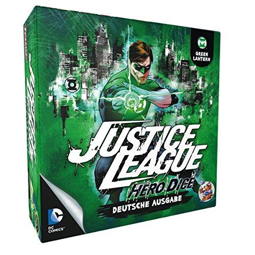 Asmodee HE869 - Justice League: Hero Dice, Green Lantern, grün