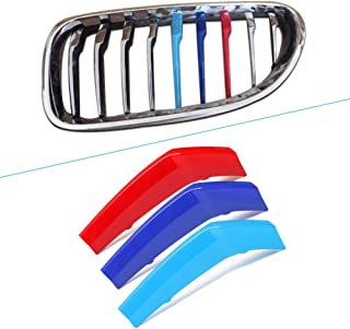 M Color BMW Grill Stripes Front Grille Grill Cover Insert Trim Clips 3Pcs 9 Grille carado for BMW 4 Series F32 F33 420i 428i 435i 2013-2018