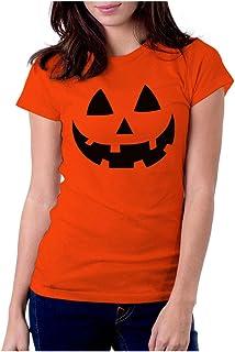 Jack O ' Lantern Face Shirt Halloween Pumpkin - Camisetas para mujer