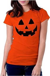 Halloween Pumpkin Shirt for Women Pumpkin Costume Women Jack O' Lantern Shirt