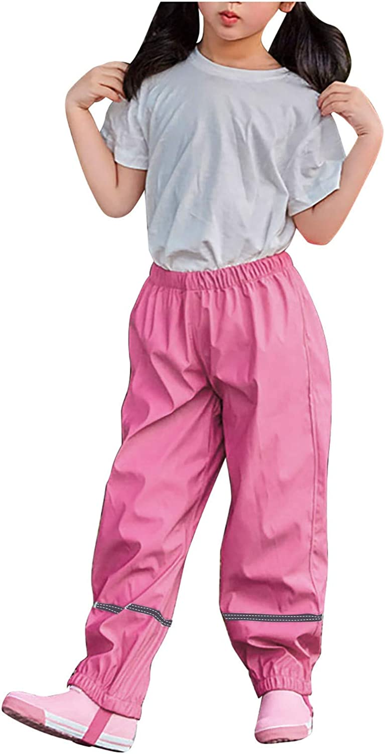 Kids Lightweight Reflective Safety and trust Rain Max 76% OFF Waterproof W Pants Toddler