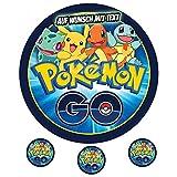 Tortenaufleger Geburtstag Tortenbild Zuckerbild Oblate Motiv: Pokemon 02 -