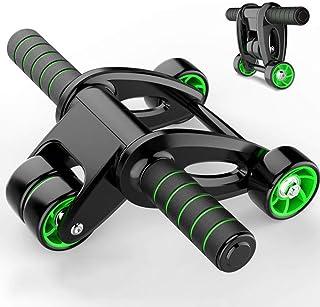 Busirsiz Ab Roller Coaster buken Wheel gymutrustning Sit-up Assistant fyra rundor Belly Muscle Trainer Fitness Abdominal