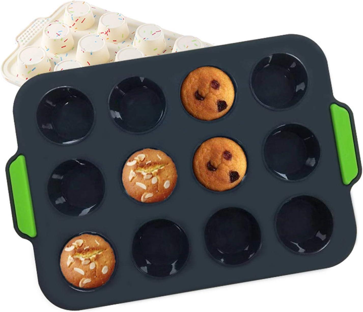 Silicone Mini Translated Muffin 5 ☆ popular Pan 12 Cup Cupcake Gra Food Non-stick