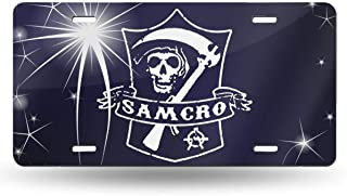 Black6red Sons of Anarchy Felpa License Plate Frame Tag Holder 6