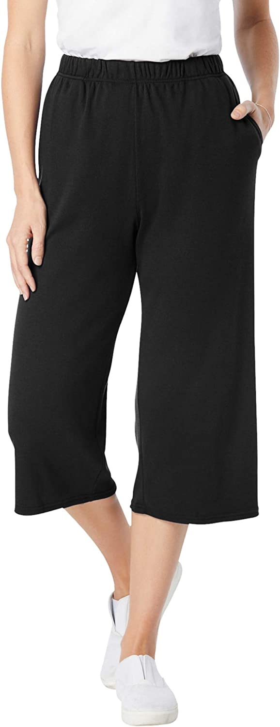 Woman Within Women's Plus Size 7-Day Knit Culotte Pants