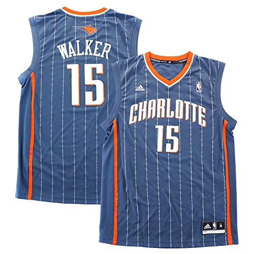 19c572cac adidas Kemba Walker Charlotte Bobcats NBA Men s Grey Official Replica Jersey