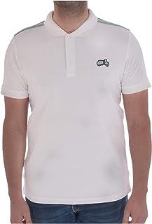 Lambretta Mens Scooter Badge Cotton Short Sleeve Polo Shirt - White - 4XL