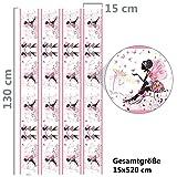 Bordüre Mädchen Schmetterlingselfe Kinderzimmer, Größe: 520cm x 15cm, Tapetenbordüre, Wandbordüre, Borte, Kinderzimmer - 6