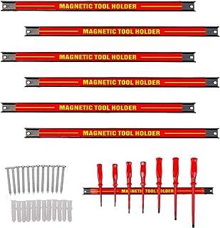 Cchainway 6PCS Heavy-Duty 18'' Magnetic Tool Holder Racks Super Strong Metal Magnet Storage Tool Organizer Bars Set Great ...