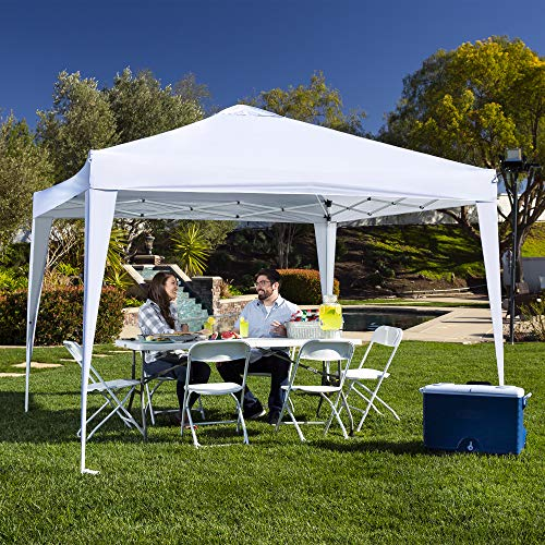 Best Choice Products Outdoor Portable Lightweight Folding Instant Pop Up Gazebo Canopy Shade Tent w/Adjustable Height, Wind Vent, Carrying Bag, 10x10ft - White