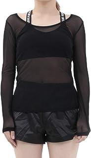 [RONDEL-BLACK(ロンデルブラック)] 透け シースルー 長袖 カットソー トップス無地 黒 ブラック