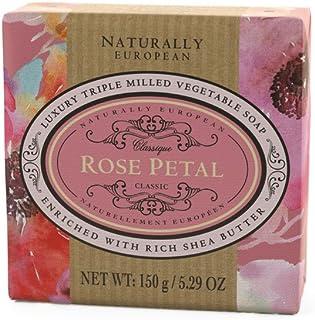 Naturally European Rose Petal Soap, 150 g