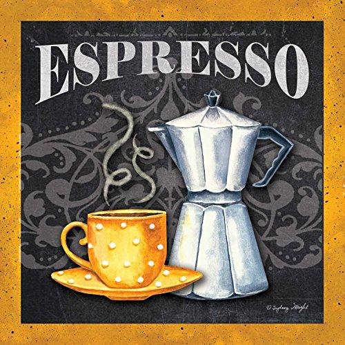 Feeling at home ESTRILLADO-LONEAS-Espresso-Wright-Sydney-Alimentos-Fine-Art-impresión-enmarcado-sobre-madera-bars-cm_21x21_in