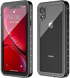 iPhone XR ケース 防水 ケース 耐衝撃ケース 全面保護 米軍MIL規格取得 指紋認識対応 Qi充電対応 超軽量 塵 キズ·落下防止 高耐久ケース アイフォンXR ケース 6.1インチ対応 (iPhone XR)