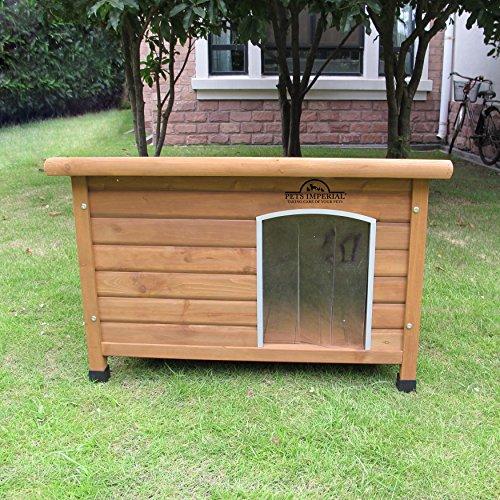 Pets Imperial Norfolk Chenil Isolé en Bois Moyen Taille Chien avec Plancher Amovible pour Un Nettoyage Facile B