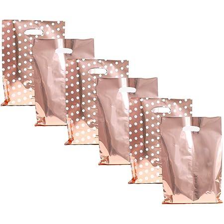 Paper Favor Bags Party Favor Bag Red Wedding Favor Bags Gold and Red Polka Dot Chevron Paper Favor Bags Glam Bridal Shower Brunch Favors