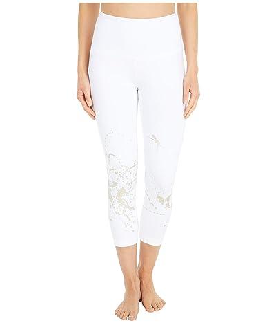 Lysse Juno Foil Crop Leggings in Cotton Spandex (Gold Splatter) Women