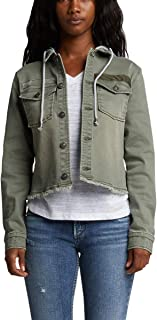 Silver Jeans Co. Women's Twill Jacket with Detachable Hood