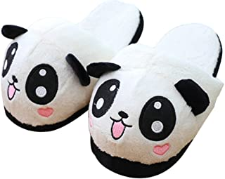 Cute Plush Panda Slippers For Women Ladies Winter Non Slip Warm House Indoor Slippers