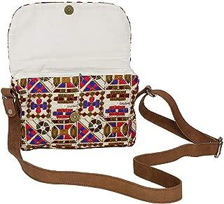 storeindya Handcrafted Bag Cotton Satin Cross Body Pouch Women Kutch Embroidery Designer Sling Purse