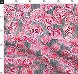 Doppelte Ausführung, Betabrand, Pinke Blumen, Rote Rosen,