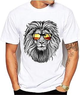 Generic Brands gShopVV Mens Womens Fashion Cool Lion T-Shirt White XXX Large