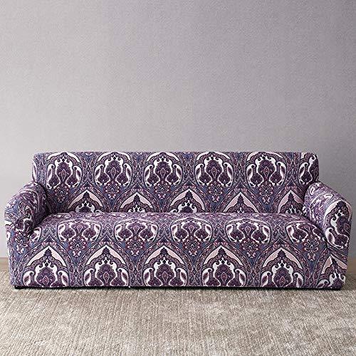 ASCV Housse de canapé européenne Housse de canapé à Impression Florale pour Salon canapé Serviette étui de Meubles Fauteuil Housse de canapé A7 3 Places