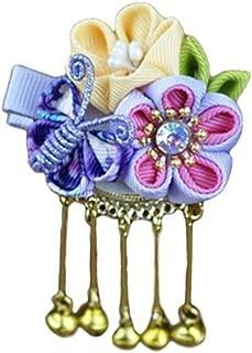 1 pc Hair Clip Japanese Style Butterfly Sakura Barrette Headwear for Girls,color