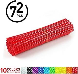72Pcs Spoke Skins - Cubiertas de Radio de Rueda para Motocross, Bicicletas de Suciedad - 10 Colores ( Color : Rojo )