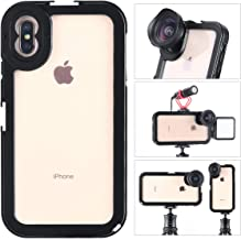 ULANZI Aluminum Video Cage for iPhone XS MAX, Protective Smartphone Vlog Frame Housing w Lens Adapter / 1/4'' Tripod Screw/ 2 Cold Shoe Mounts for Microphone LED Video Light for iPhone XS MAX Vlogging