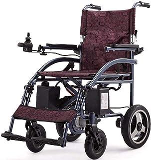 AGGF Silla de Ruedas eléctrica, sillas de Ruedas autopropulsadas, sillas de Ruedas Plegables, Ligeras y Resistentes, Scooter de Movilidad Conveniente para Uso doméstico y al Aire Libre-B